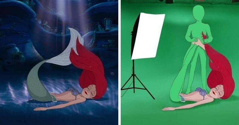 Секрет создания знаменитых сцен в мультфильмах Disney (12фото)