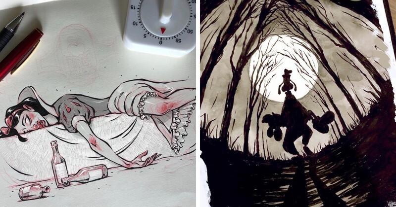 Московский художник напускает мраку к Хэллоуину (51фото)