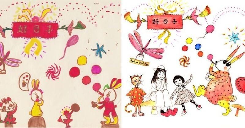Художница повторила свои детские рисунки спустя 30 лет (13фото)