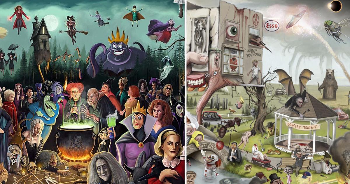 500 отсылок к поп-культуре в 5 постерах (22фото)
