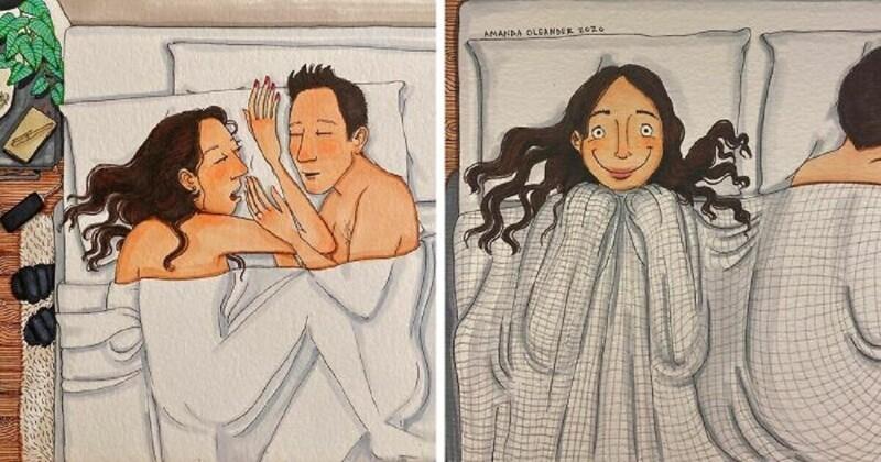 Художница рисует всю правду о том, каково жить вместе (31фото)
