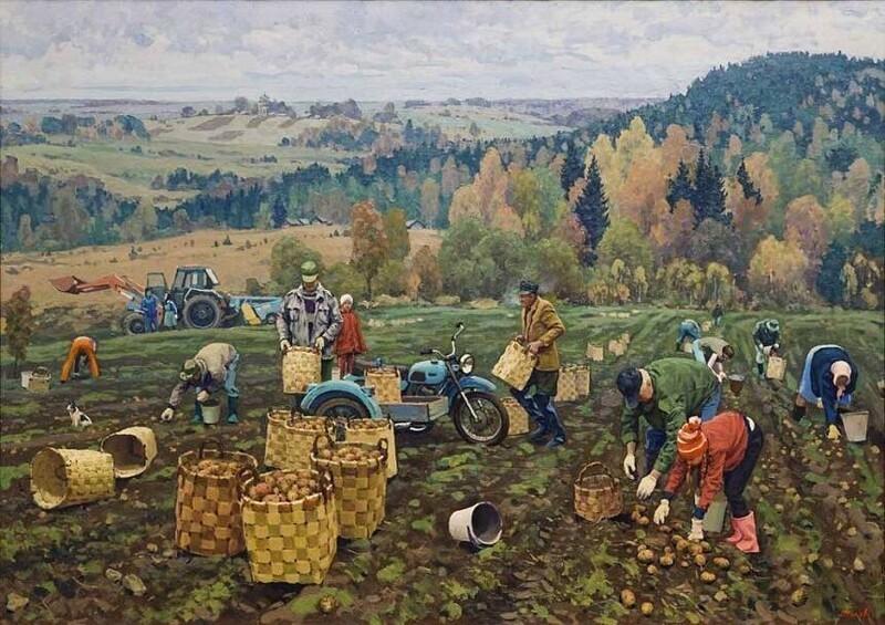 Художник Павел Попов. Деревенское (29фото)