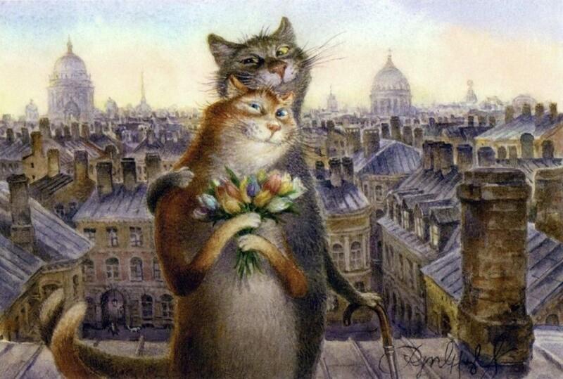 Питерские котики Владимира Румянцева (6фото)