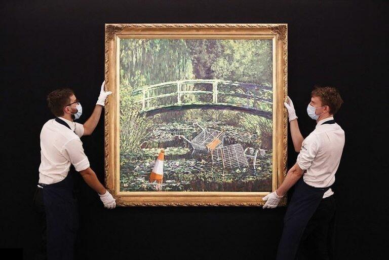 Картину Бэнкси продали за фантастические 9,9 млн. долларов (3фото)