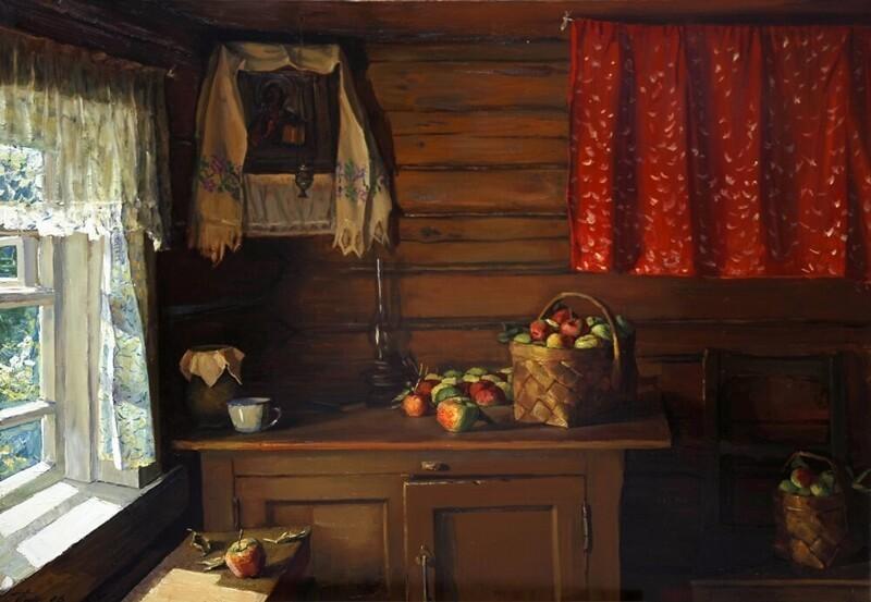 Душевные, тёплые картины Чайникова Григория Леонтьевича (1960-2008)