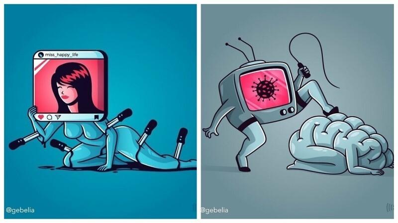 Что не так с нашим обществом: 25 иллюстраций, заставляющих задуматься (26фото)