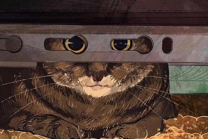 Художница рисует котов из мемов (41фото)