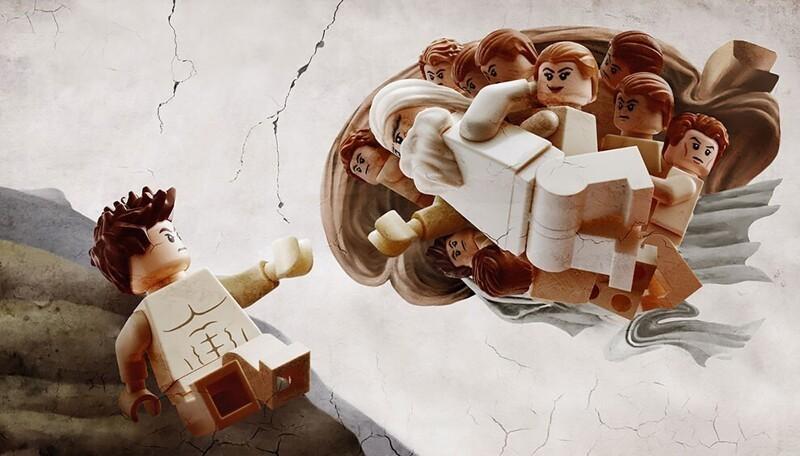 Художник воссоздает классические шедевры с помощью LEGO (10фото)