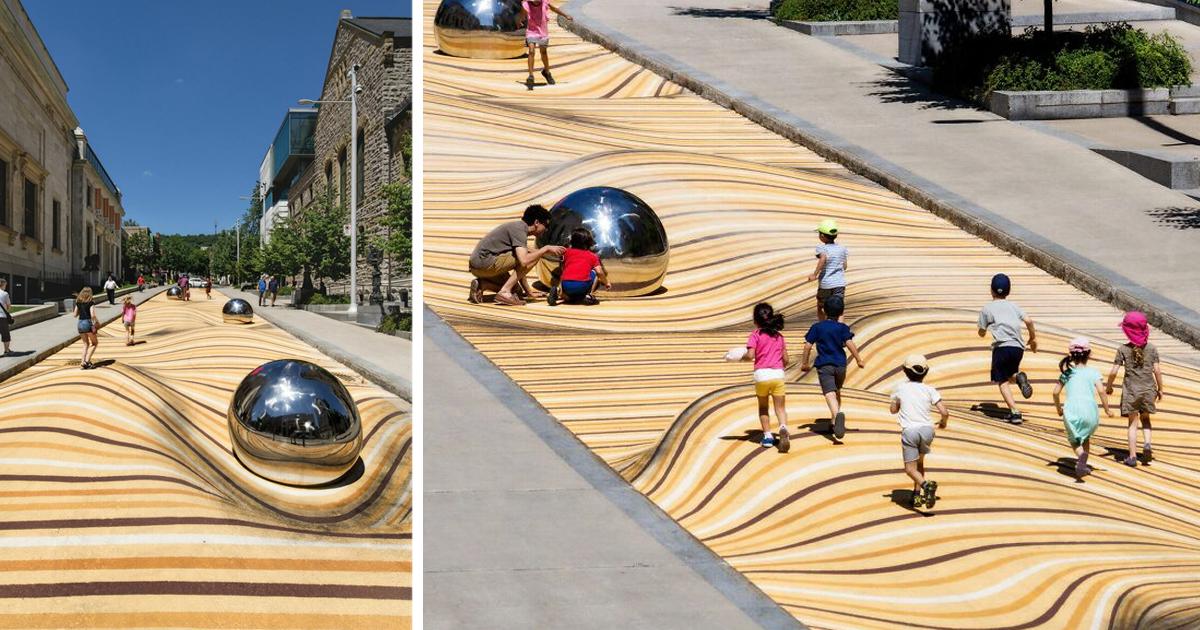 Оптическая иллюзия превратила улицу в песчаные дюны (12фото)