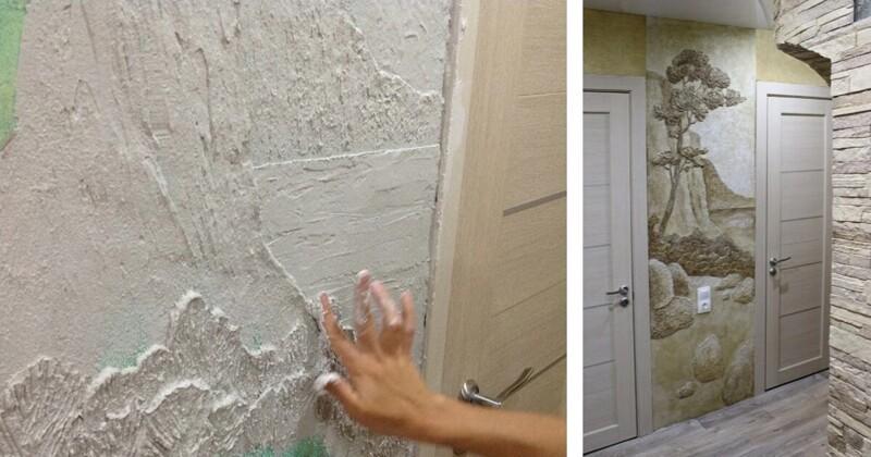 Рельефная настенная роспись своими руками (6фото)