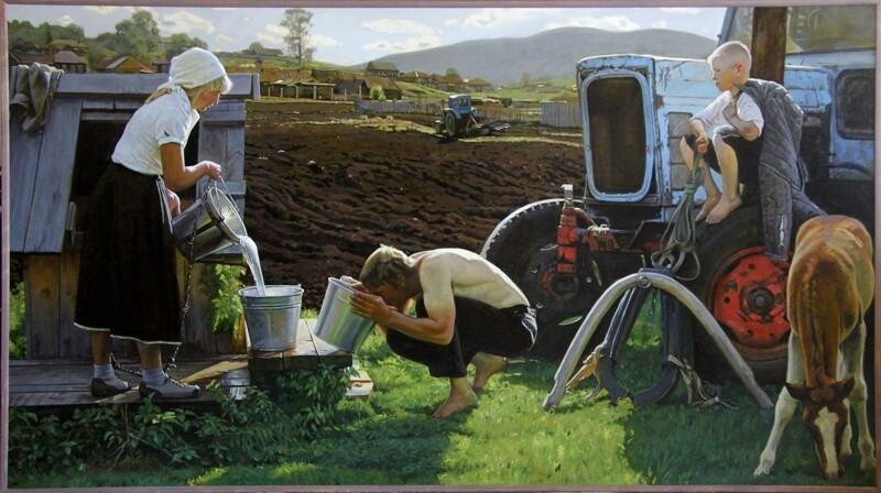Деревенская жизнь на картинах художника Андрея Подшивалова (46фото)