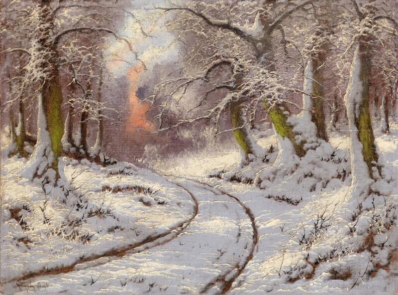 Ласло Неогради, зимние пейзажи (14фото)