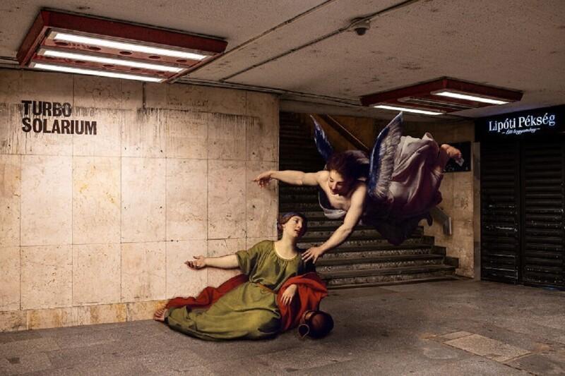 Фотограф заселил Будапешт персонажами классической живописи (12фото)