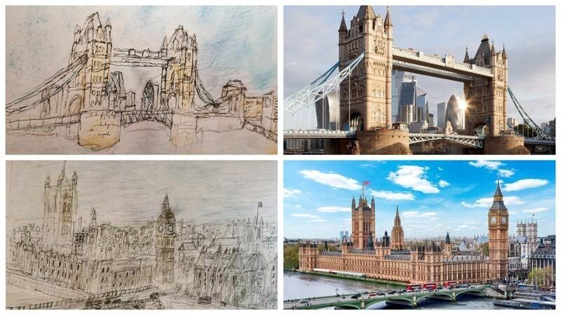 Мальчик-аутист рисует городские пейзажи по памяти (9фото)