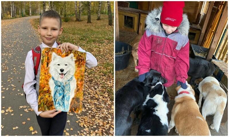 10-летний школьник из Арзамаса рисует портреты животных и помогает приютам (30фото)