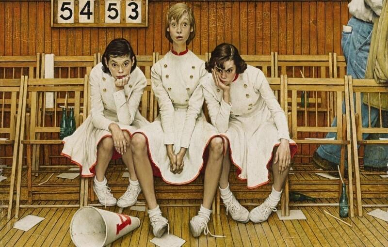Ироничные иллюстрации Нормана Роквелла (38фото)