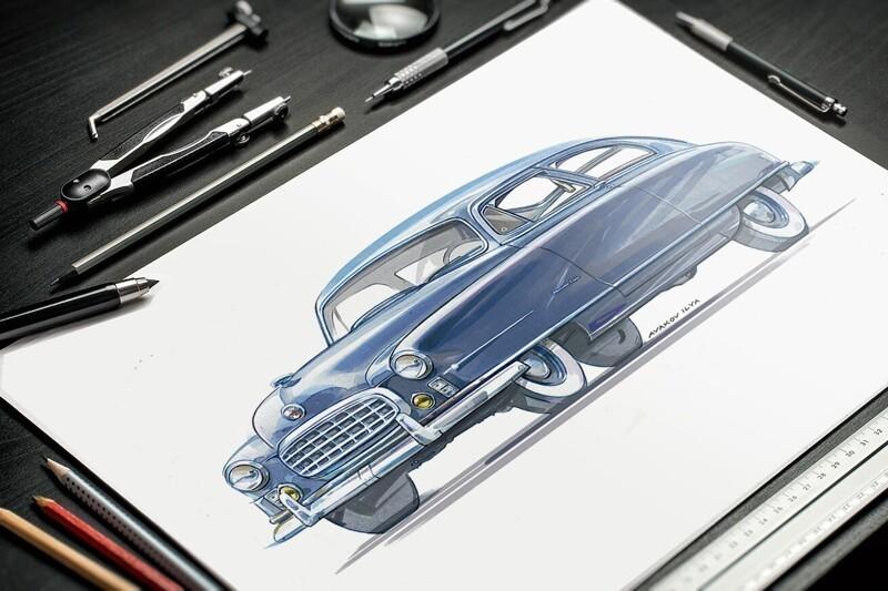 Иллюстрации автомобилей (4фото)