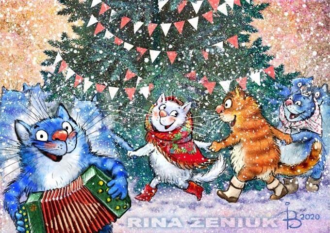 Коты минской художницы Ирины Зенюк. 2020 г (51фото)