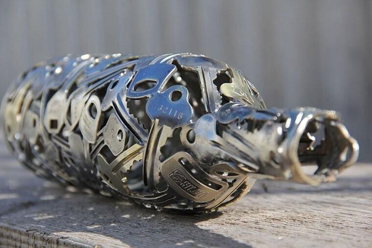 Майкл Меркерк и его арт-работы из металла (18фото)