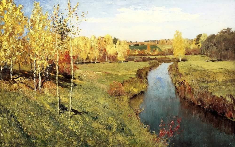 Описание картины «Золотая осень» И.Левитана (1фото)
