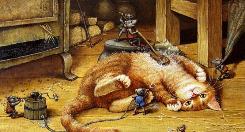 Котосказки художника Александра Маскаева (61фото)