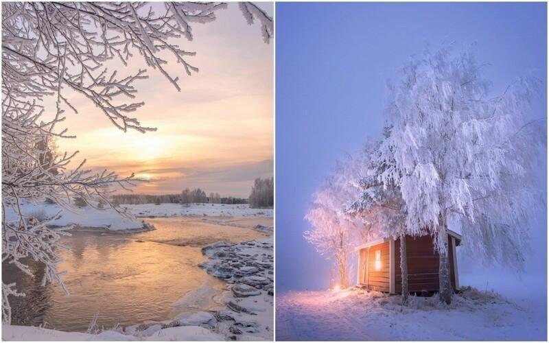 Красота зимней Финляндии на снимках Юкка Рисикко (26фото)