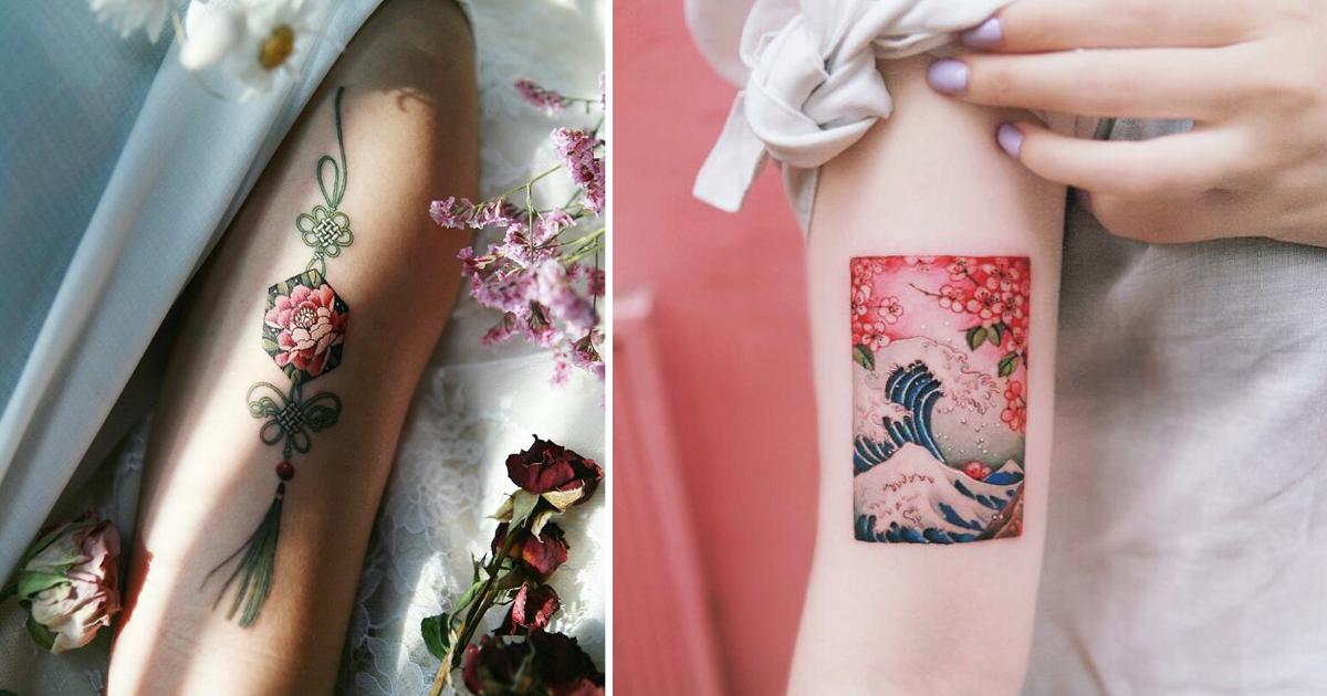 Изящные работы корейской татуировщицы (31фото)