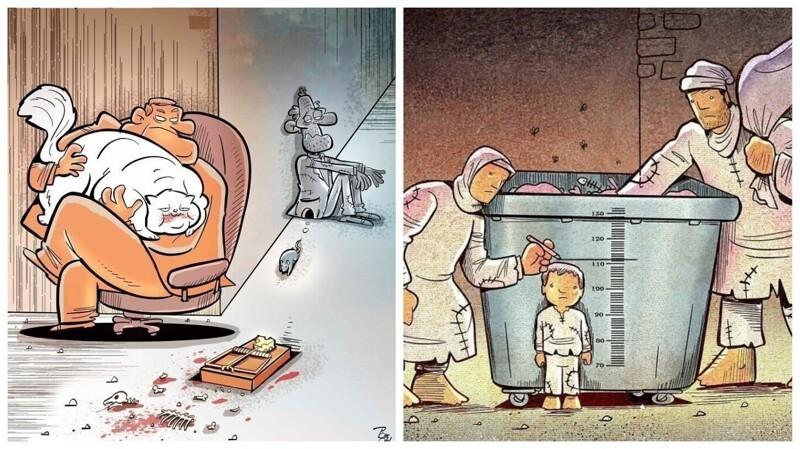 30 честных иллюстраций о недостатках современного общества (31фото)