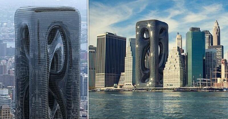 Турецкие архитекторы предлагают построить на Манхэттене необычную высотку (8фото)