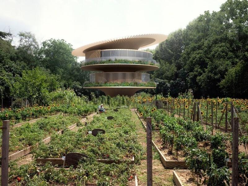 Архитектура будущего: дом-подсолнух, который движется к солнцу, как цветок (3фото)