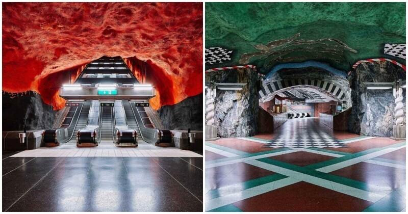 105 километров искусства: как выглядит шведское метро, которое расписали знаменитые художники (37фото)