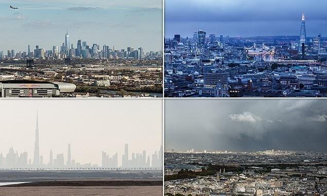 Впечатляющие панорамы городов из фотоальбома Ханса-Георга Эша (13фото)