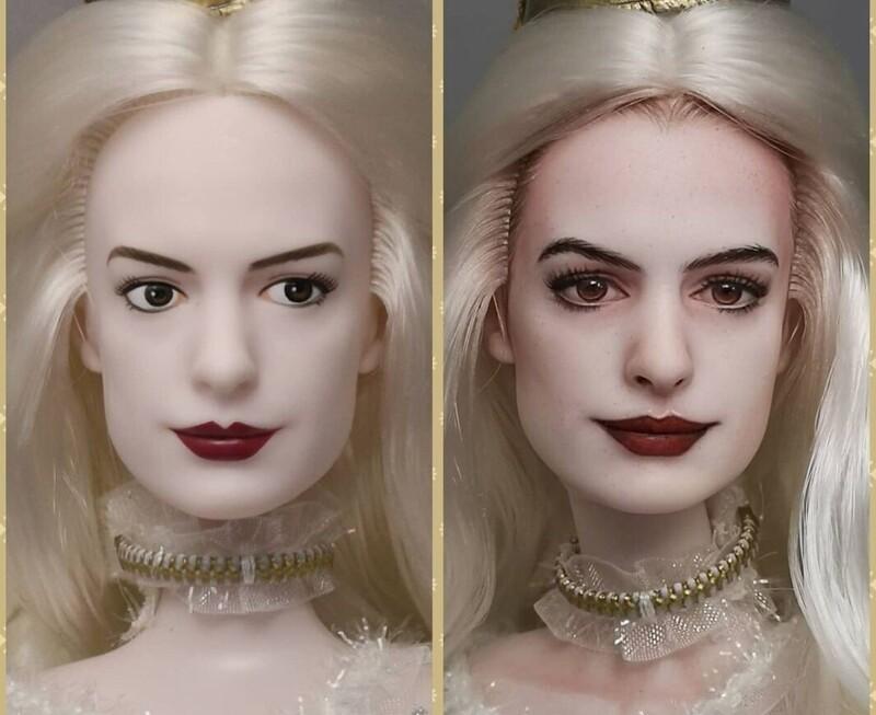 Художник наносит новый макияж куклам, делая их лица максимально реалистичными (18фото)