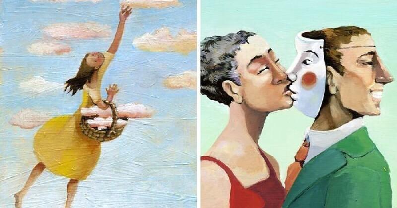 Итальянская художница создает иллюстрации о нашем обществе и отношениях между людьми (41фото)