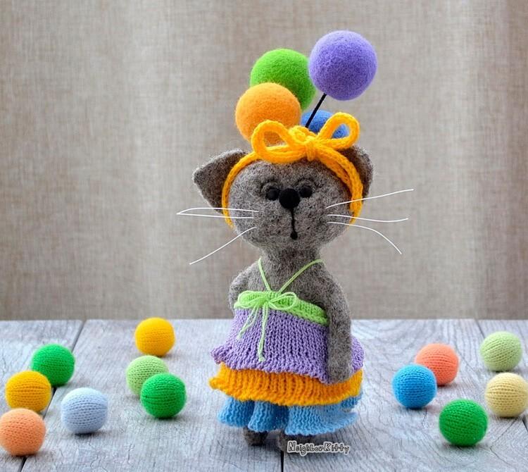 Валяная доброта в игрушках от Elena Covert (34фото)