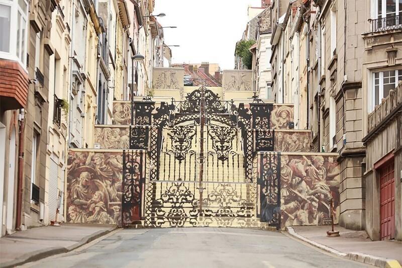 Эта оптическая иллюзия - самое красивое произведение уличного искусства во Франции (3фото+1видео)