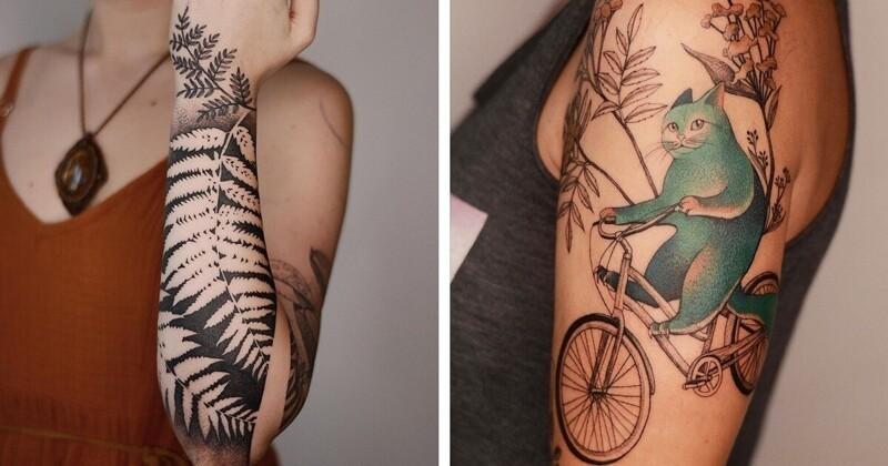 Польская тату-художница - мастер хипповских татушек (19фото)
