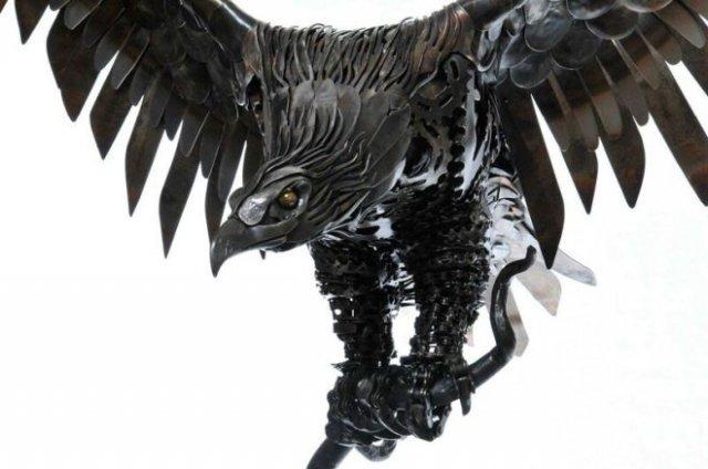 Алан Уильямс - скульптор по металлу, создающий настоящие шедевры из металлолома (15 фото)