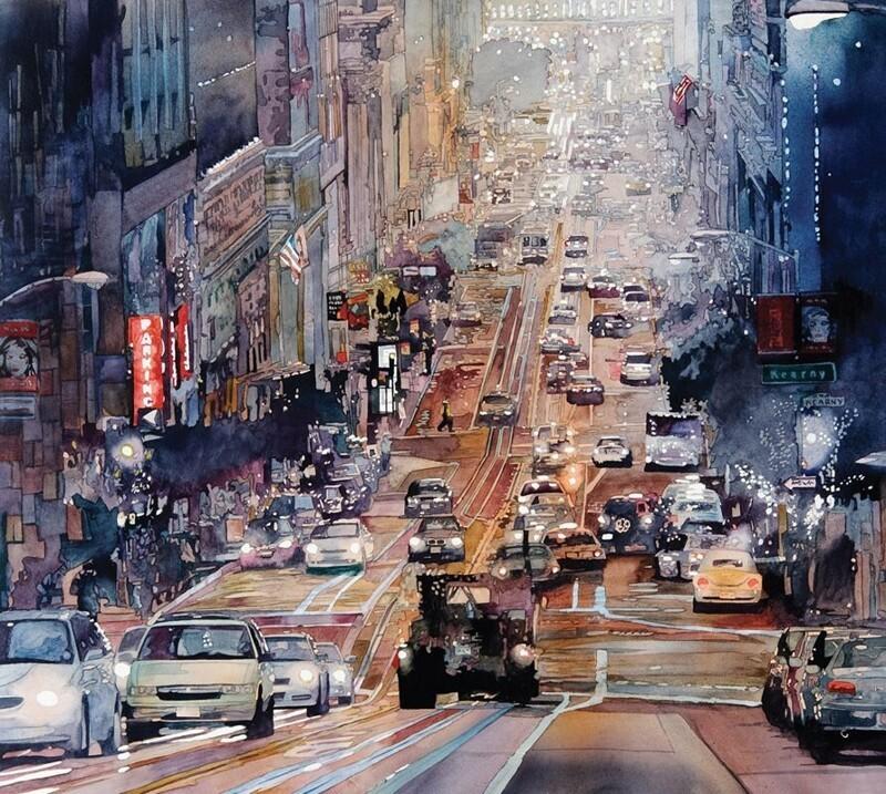 Городские акварели художника Джона Салминена (37фото)