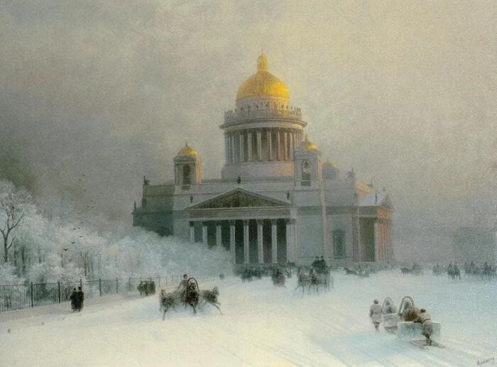 Зимние пейзажи Айвазовского. Смотрим, как мастерство художника пересилило нелюбовь к холодам (8фото)