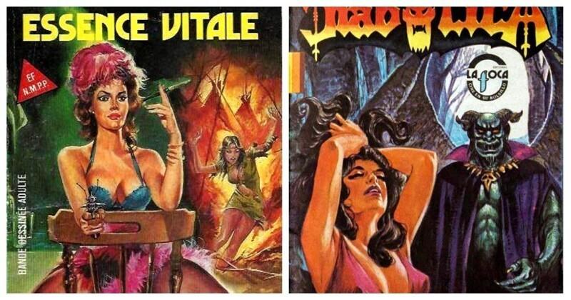 Эстетика 80-х в обложках винтажных комиксов для взрослых (120фото)