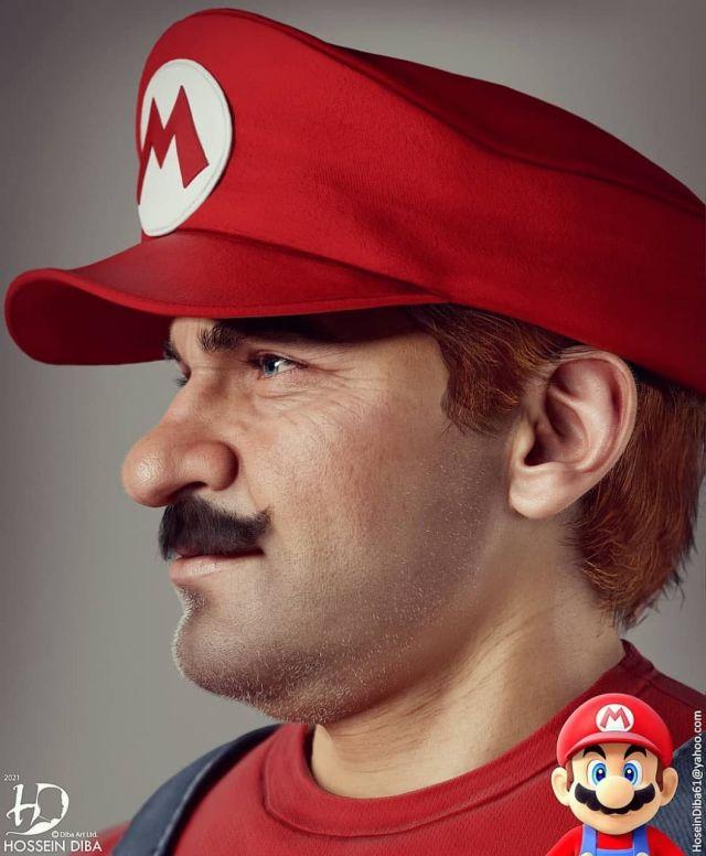 Турецкий художник Хоссейн Диба показал, как мог бы выглядеть Супер Марио в реальной жизни (6 фото)