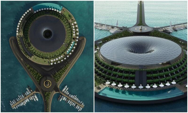 Архитекторы придумали вращающийся эко-отель (7фото+1гиф)