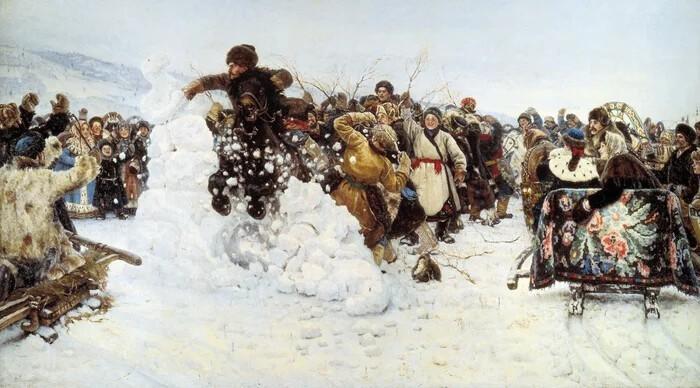 «Взятие снежного городка» Сурикова, или сибирский шедевр за три ведра водки (5фото)