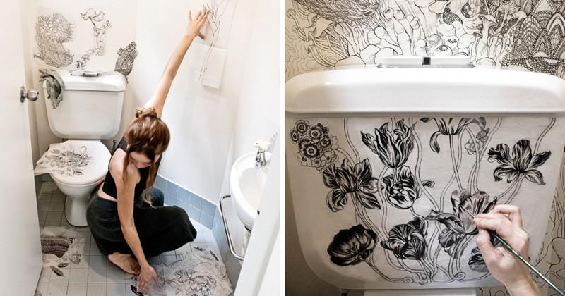 Дизайнер и модельер превратила свой скучный туалет в по-настоящему магическое место (10фото)