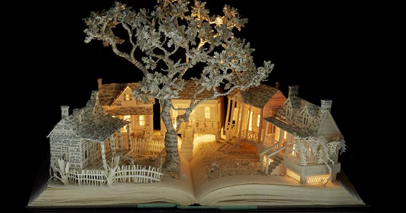 Художник превращает старые книги в сказочные царства (46фото)