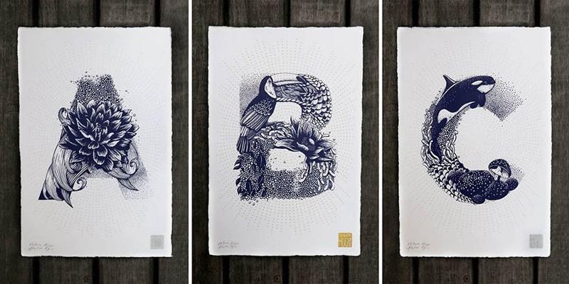 Иллюстратор, вдохновившись флорой и фауной, создала необычный латинский алфавит (27фото)