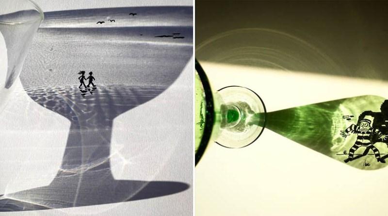 Художник создает остроумные рисунки, совмещая тень с разными объектами (36фото)