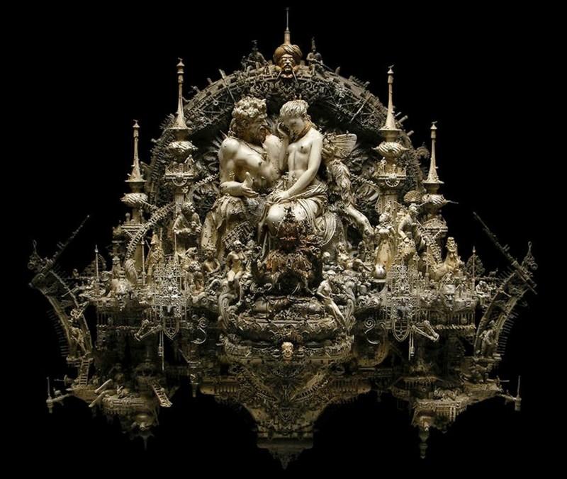 Мрачная скульптура от Криса Кукси (Kris Kuksi) (25фото)