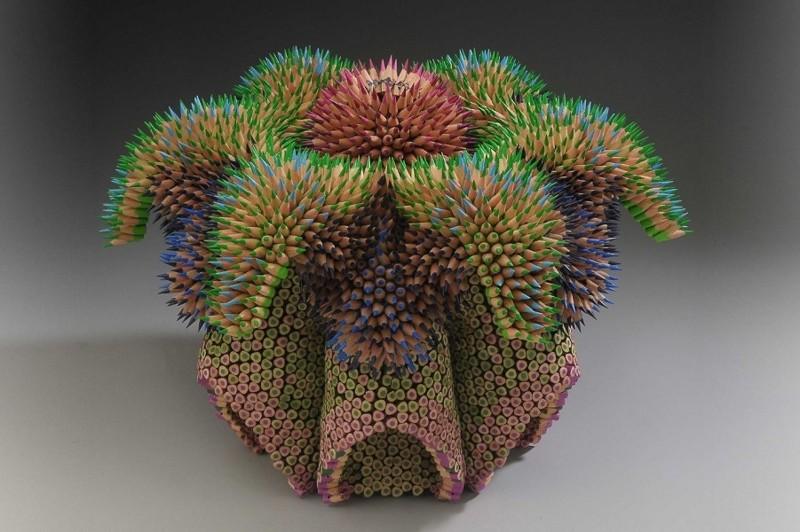 Впечатляющие скульптуры из карандашей (12фото)
